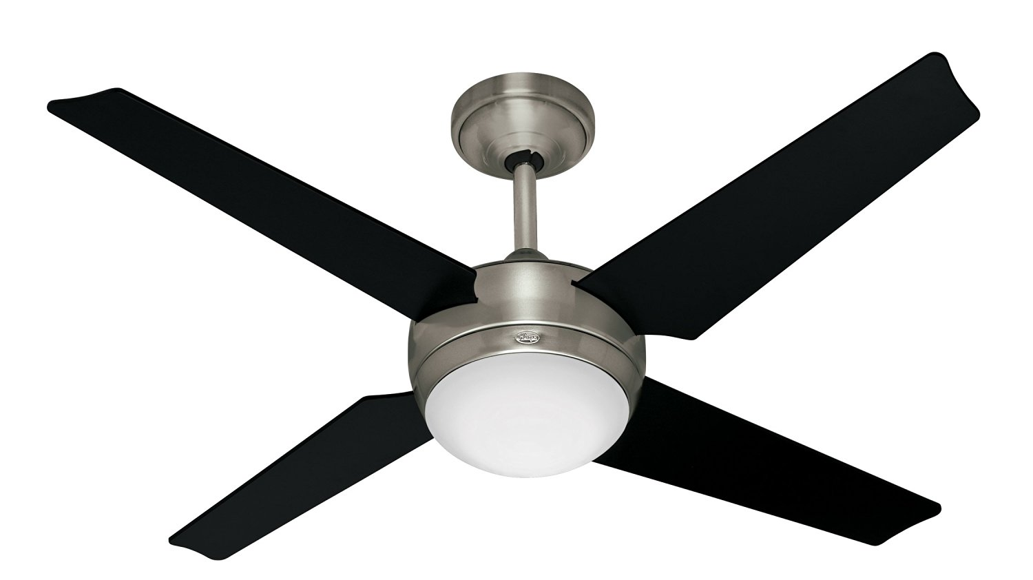 Hunter 21585 Sonic 52 Inch Brushed Nickel Ceiling Fan With Light Kit And Remote