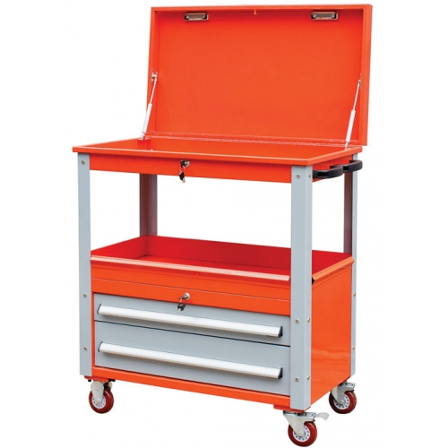 multifunction heavy duty two drawers tool cart tool cabinet