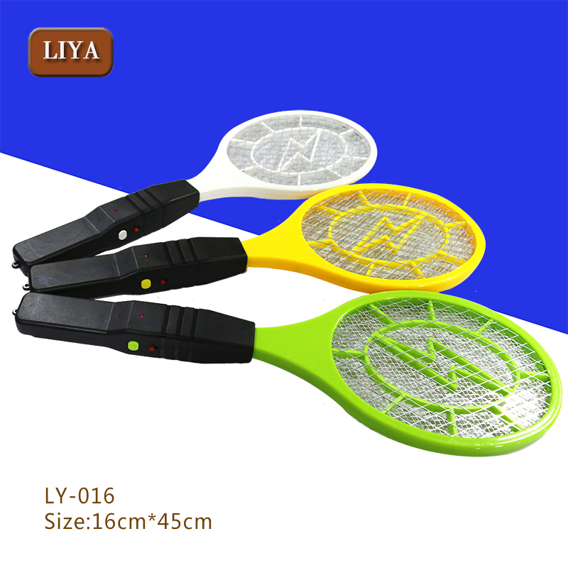 Indoor bug zapper racket sealed lead acid battery electric killing mosquito swatter hit