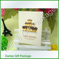 paper craft greeting cards/ paper rose greetings cards/ paper new year greeting card