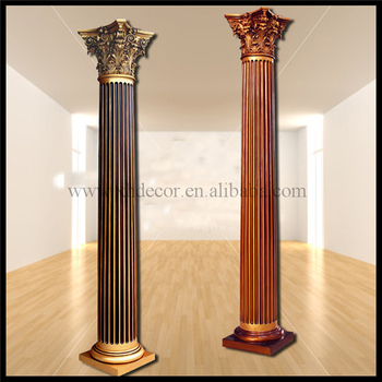 Frp Decoration Roman Column Pillar Pu Home Decor Decorative Pillars For