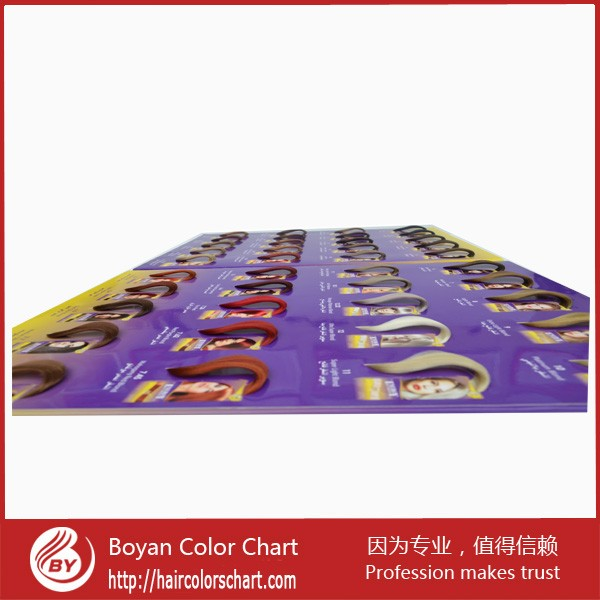 Free Sample Hair Color Swatch Hairdressing Salon Color Chart For