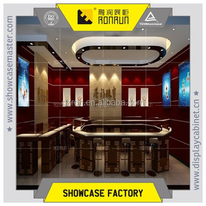Hongkong famous brand jewelry shop ,jewelry display showcase and counter ,modern furniture design