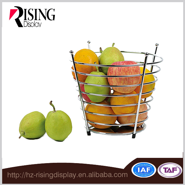 Modern Style Metal Wire Decorative Fruit Basket