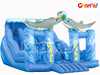 Inflatable Wave Park Slide/Double Lane Slide with Two Dolphin for Kids