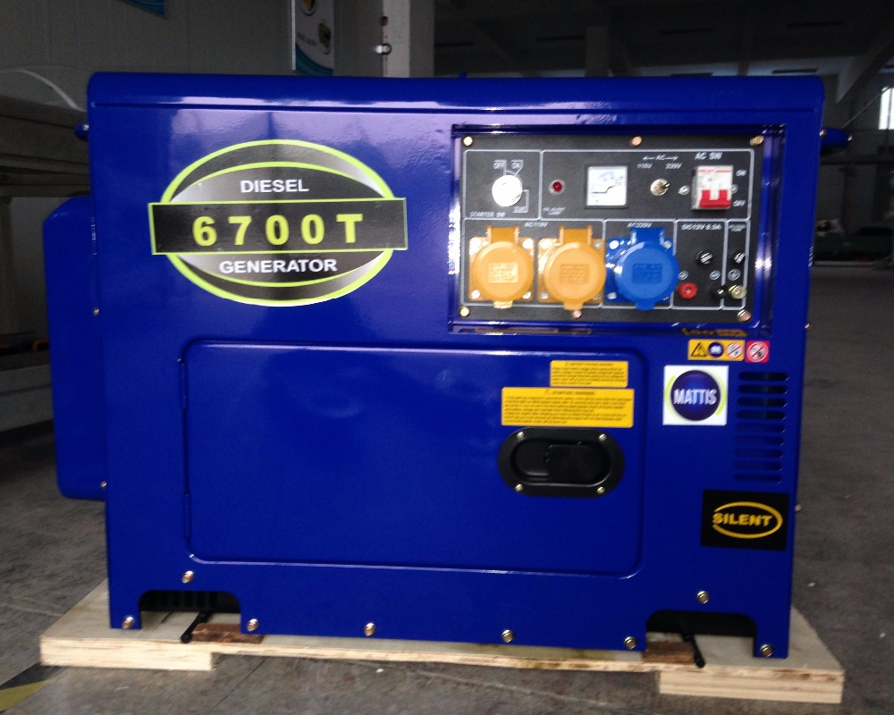 5 kw diesel welding generator with silent type electric start