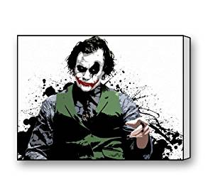 Joker The Dark Knight Rises Canvas Prints for Modern Wall Art for Home Decoration 16 X 12 Inch