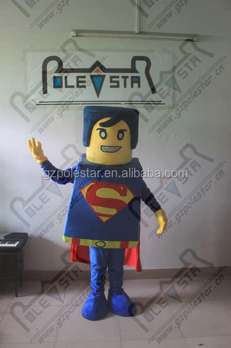 3D hair super man mascot costumes hot sale superman costumes new cartoon export high quality robots series costumes EVA head
