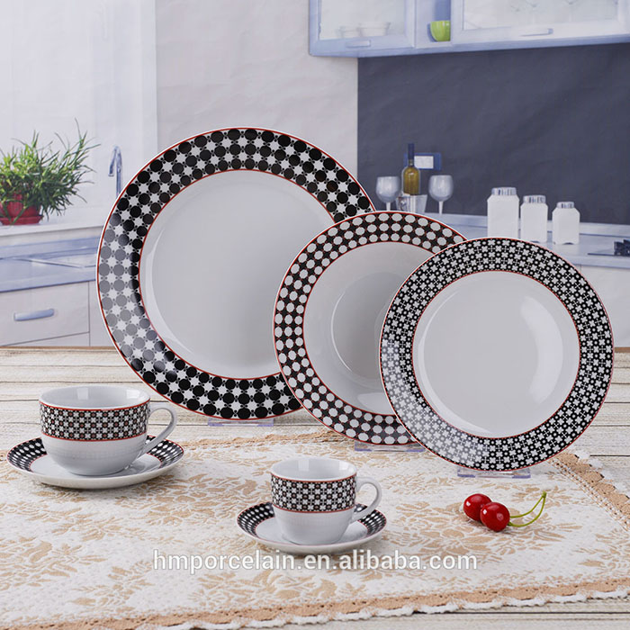 42 pcs living art dinner set With Popular Design Fine China AB Grade for 6 people