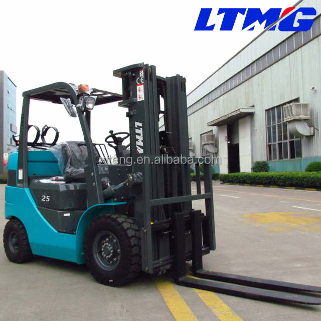 mini fork lift 2.5ton lpg gasoline forklift with optional LNG/CNG fuel