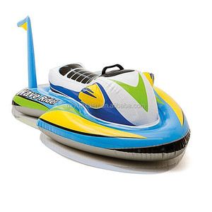 Swimming pool games inflatable electric jet ski, inflatable wave rider for sale