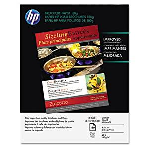 Inkjet Brochure/Flyer Paper, 98 Brightness, 48lb, 8-1/2 x 11, White, 150/Pack, Sold as 150 Sheet