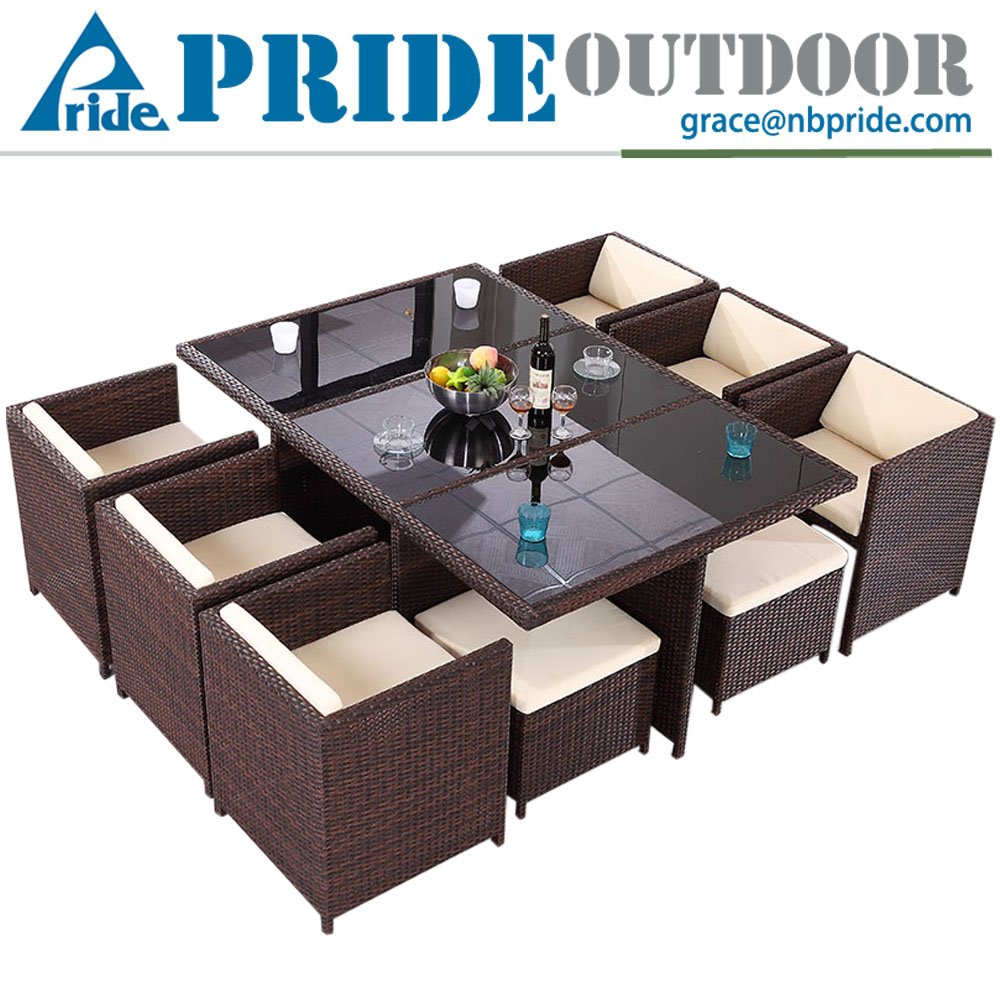 Multifunction Luxury Modern Wicker Furniture Sets New Design Rattan Outdoor Garden Set