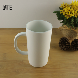 Custom ceramic creative advertising cup printing logo White Matt foreign trade concave carving ceramic mark coffee cup