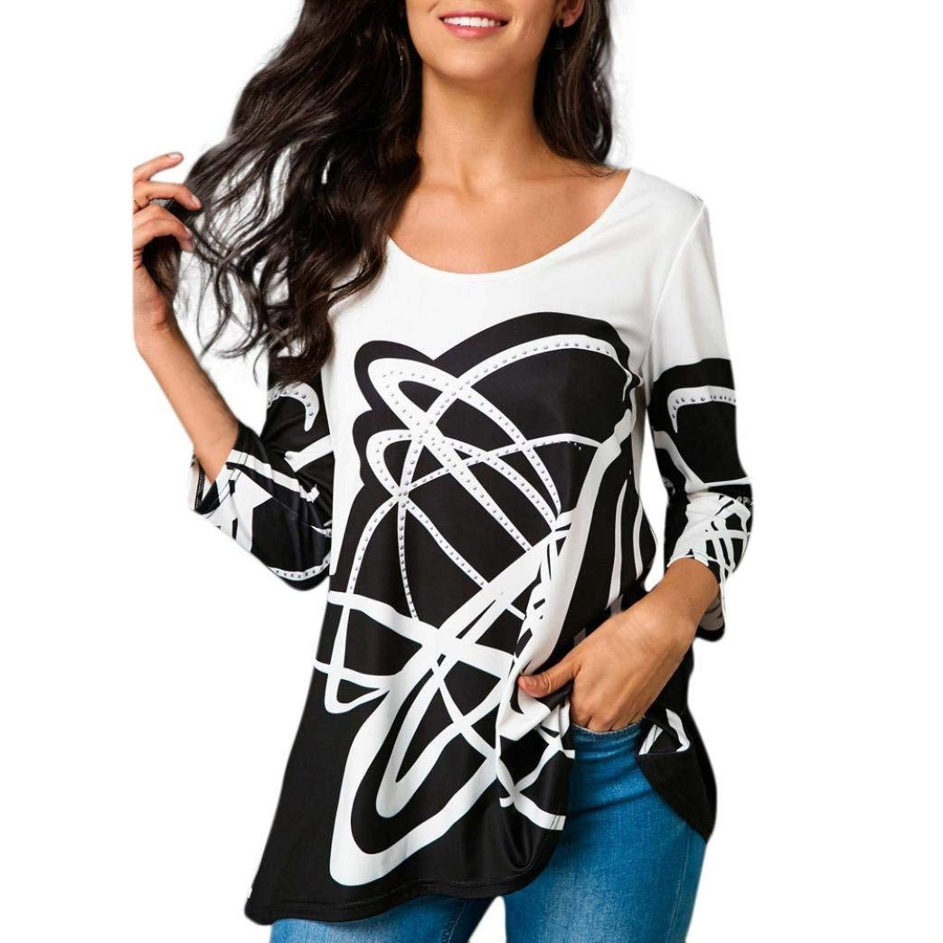 Women T-Shirt 3/4 Sleeve,BCDshop Lady Casual Graphic Top Blouse Shirt for Spring Fall