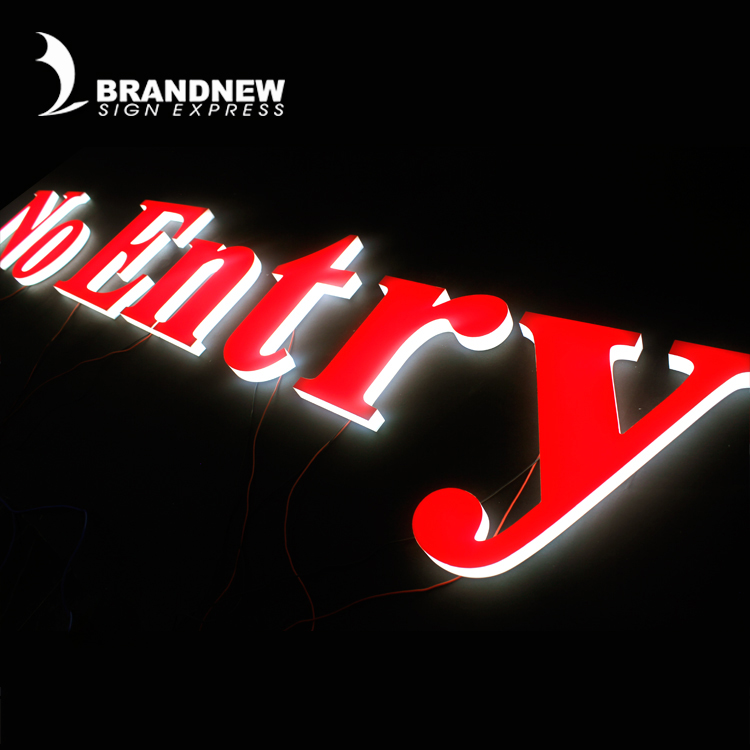 UL / CE certification acrylic frontlit sign laser cut led acrylic plastic sign letters with PCB