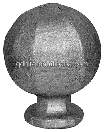 decoration wrought iron post cap,wrought iron post top,forged iron post top