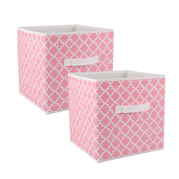 Girl Storage Bins Kids Fabric Storage Boxes Collapsible Storage Boxes Bins  Baskets