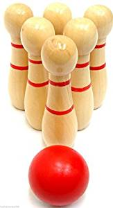 Get Quotations Desk Top Skittles Wooden Mini Office Bowling Set Kids