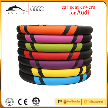 Car Steering Wheel Cover Blue And Black Pvcpu Cool Hand Wheel Cover - Audi a8 car cover
