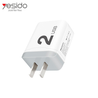 High quality 2 port type c wall charger ,2 port fast wall charger station