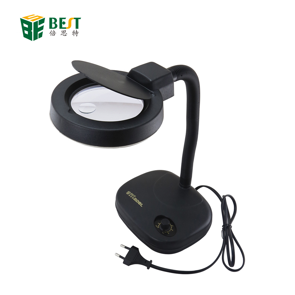 Best-208L 5x/10x36 LED loupe vergrootglas bureaulamp