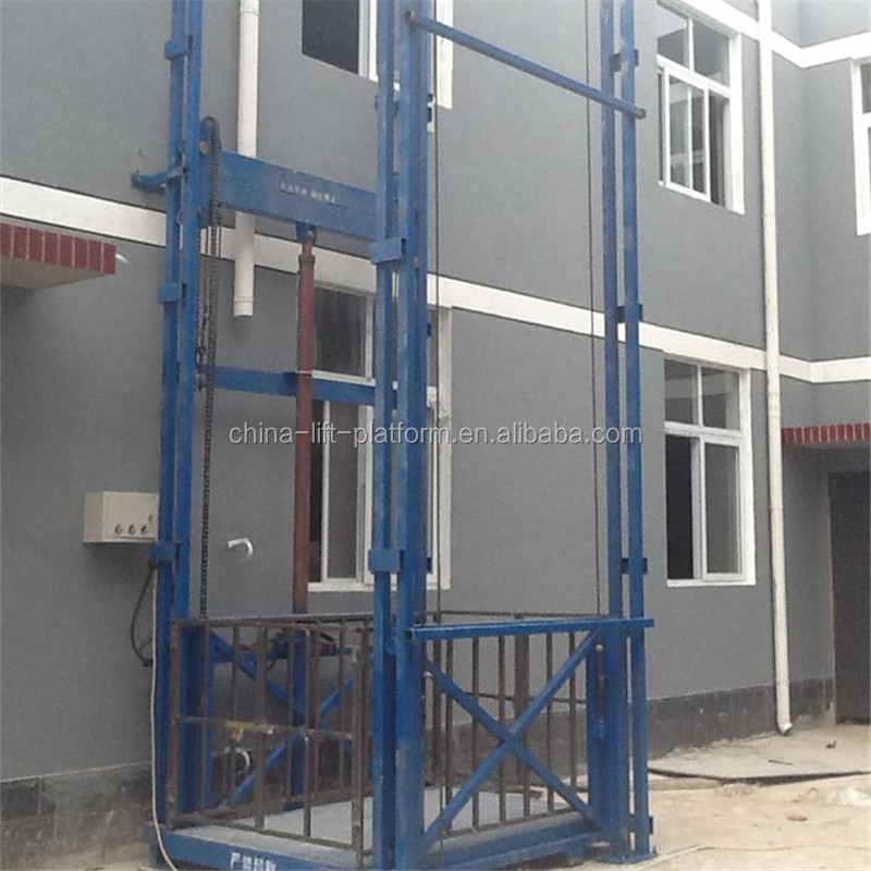 Electric used cargo elevator lift /warehouse freight elevator