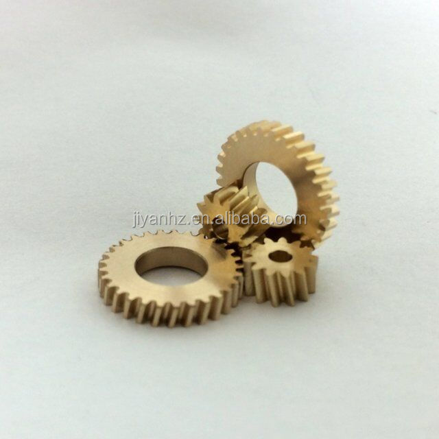 Hot sale customized brass gears in spur gears cnc machining parts nonstandard gears