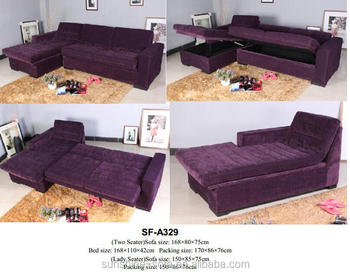 Modern Grace Flock Fabric Corner Sofa Bed