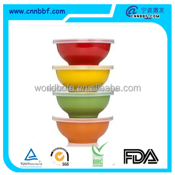 Disposable colorful PP bowl with lid