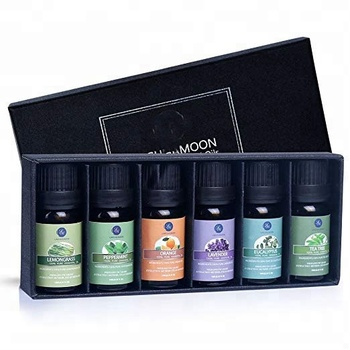 Essential Oils Top 6 Gift Set Pure Essential Oils for Diffuser, Humidifier, Massage, Aromatherapy, Skin & Hair Care