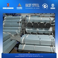 BS1387/EN10025/A53 pre galvanized steel pipe threading caps tube couping for gas