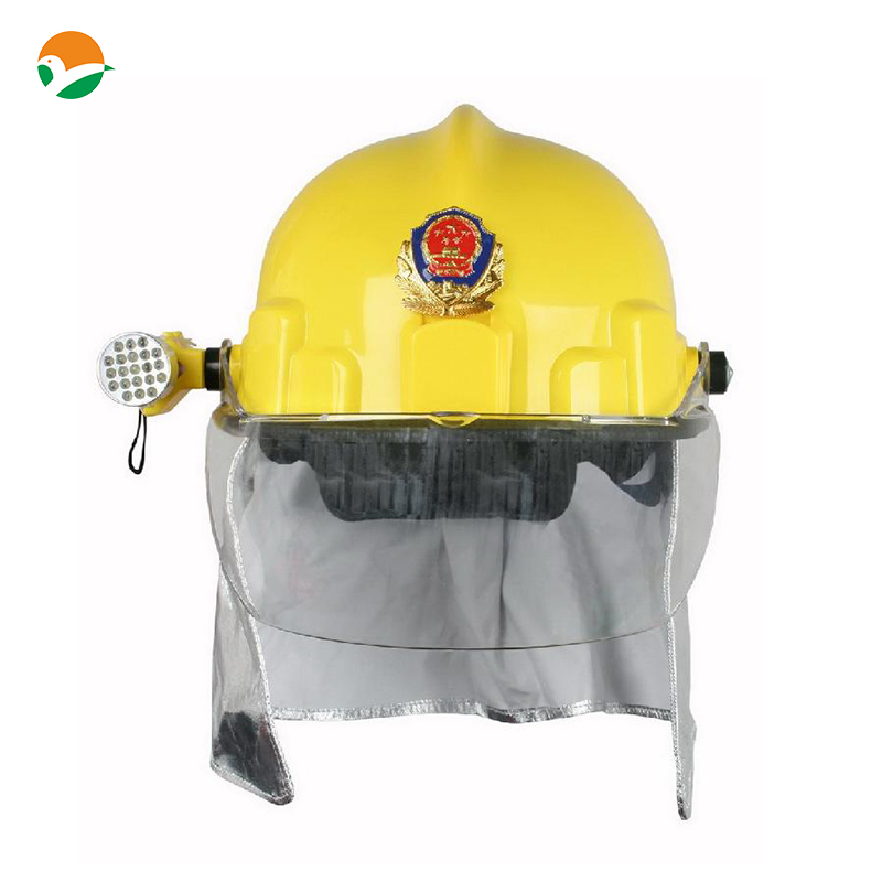 special fireman helmet with glass faiber and polycarbonate visor