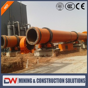 High capacity calcination rotary kiln used calciner for sale