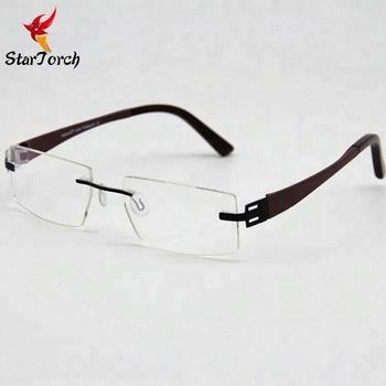 Fashion Business Frameless Pure Titanium Spectacles Frames - Buy Pure  Titanium Spectacle Frames,Spectacles Frames,Frameless Titan Glasses Product  on
