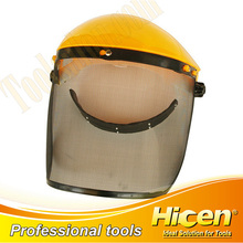 Steel Mesh Protective Face Shield with Plastic Safety Helmet