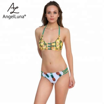 Angel Luna Unisex Sexy String Young Girl Bralette Pineapple Girls In Bikini Neoprene Photos Scrunch Butt Satin Panties And Bra Buy Scrunch Butt