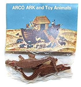 ARCO Noah's Ark Alligators / Crocodiles Plastic Toys on Card NOS