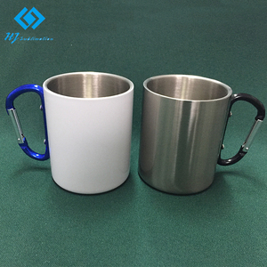 450ml keyring hands sublimation stainless steel double way coffee mug