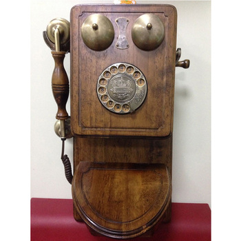 China antique landline brown desk retro wall mounted telephones