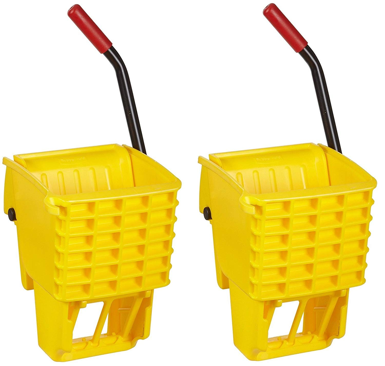 Rubbermaid Commercial FG612788YEL Side-Press Wringer for 13- to 32-ounceWaveBrake Mop Buckets, Yellow (2.PACK)