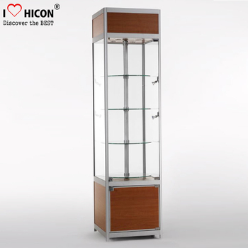 Retail Store Floor Standing Glazed Metal Glass Shelf Mobile Phone ...