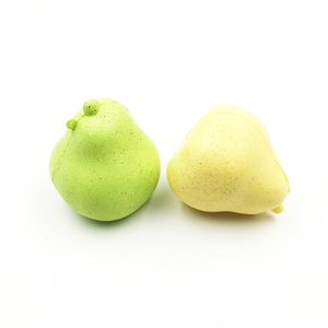 2018 new arrivals plastic foam pear squishy toys for fun