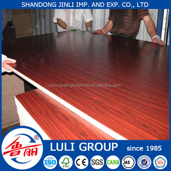 Melamine Paper Laminated Plywood/MDF/Particle Board For Furniture LULI GROUP