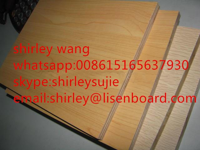 Decoration aluminium foil faced mdf board on yellow colour