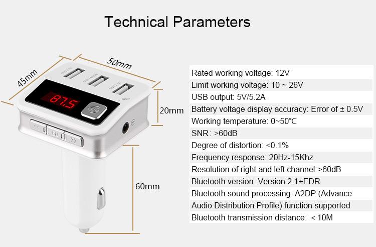 2016 New Product Bluetooth Fm Transmitter Walmart Bluetooth Car Mp3 Player  - Buy Bluetooth Fm Transmitter Walmart,Bluetooth Fm Transmitter