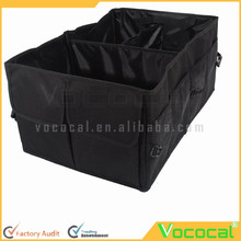 Black Foldable Oxford Fabric Lightweight Multipurpose Car Trunk Organizer Car Boot Cargo Storage Bag for Travel Vacation Trip Ca