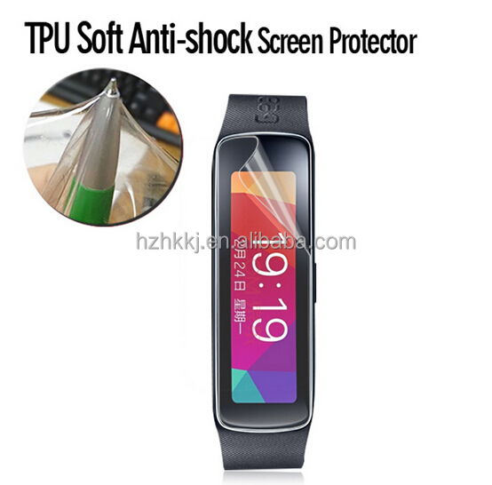 High Quality Clear Soft Screen Film for Samsung Gear Fit2 Screen Protector Skin