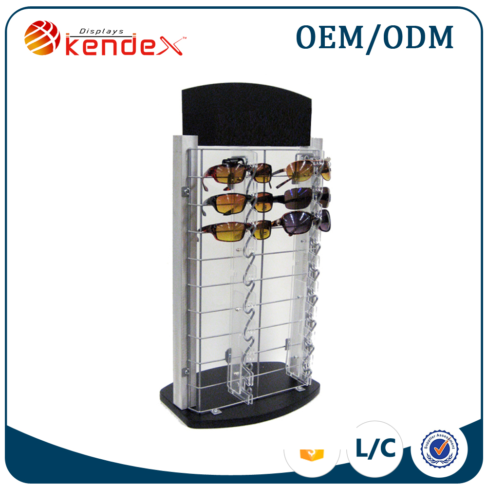 metal sunglass display rack for children's optical display with poster