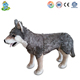 Gray stuffed animal plush wolf for kid fashion new easter gift cute custom plush toy